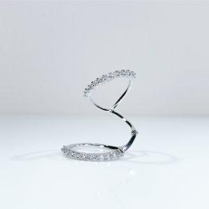 טבעת ספירלה 2 פסים